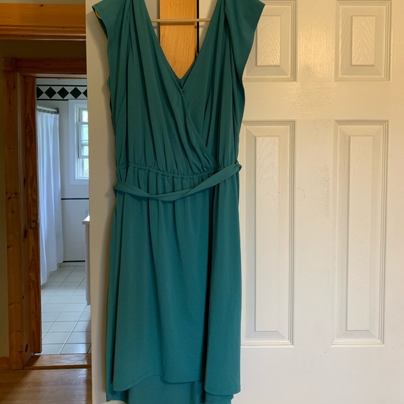 Ava & Viv Dresses & Skirts - Teal v-neck high-low wrap dress